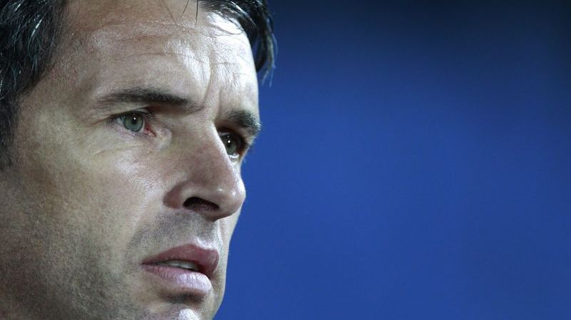 FILE  - In this Oct. 11, 2011 file photo, Wales' manager Gary Speed looks on during his team's Euro 2012 Group G qualifying soccer match against Bulgaria at Vassil Levski stadium in Sofia. The Football Association of Wales says Sunday, Nov. 27, 2011, national team manager Gary Speed has died at the age of 42. In a 20-year playing career, Speed won the English league championship with Leeds in 1992 and also played for Newcastle, Everton, Bolton and Sheffield United. (AP Photo/Oleg Popov) === OCT. 11, 2011 FILE PHOTO ===