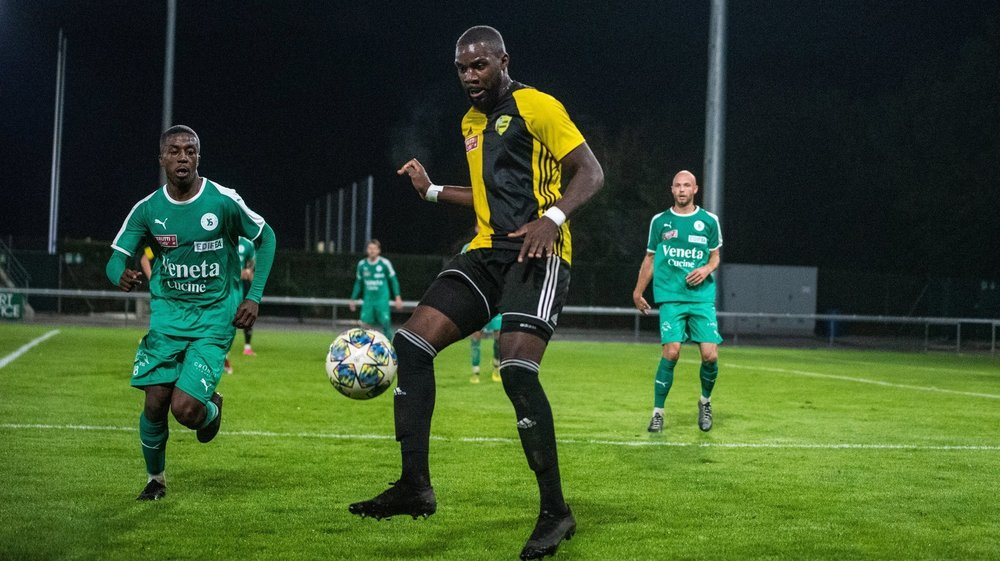 Jordi Nsiala (ici face à Yverdon) et le Stade rentrent bredouille de Breitenrain.