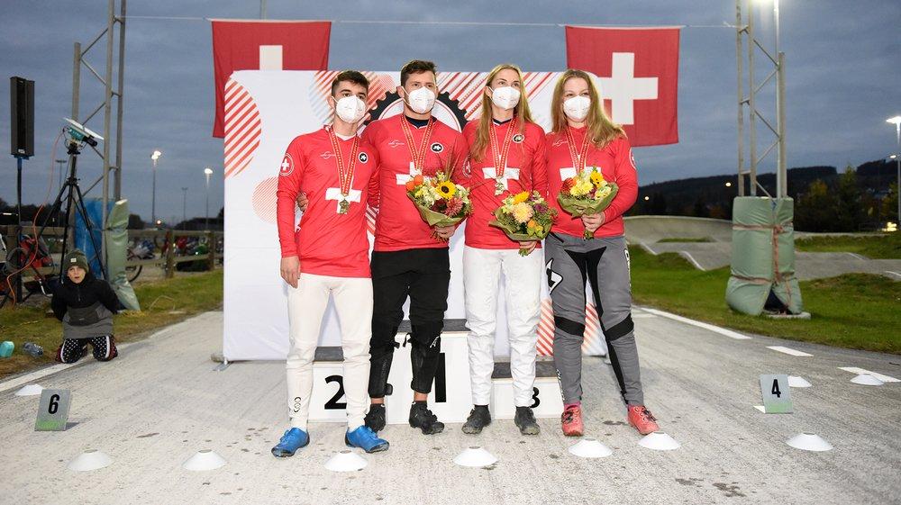 Les nouveaux champions suisses sont Cyrill Jakob (junior), Simon Marquart (élite), Zoé Claessens (élite) et Nadine Aeberhard (junior).