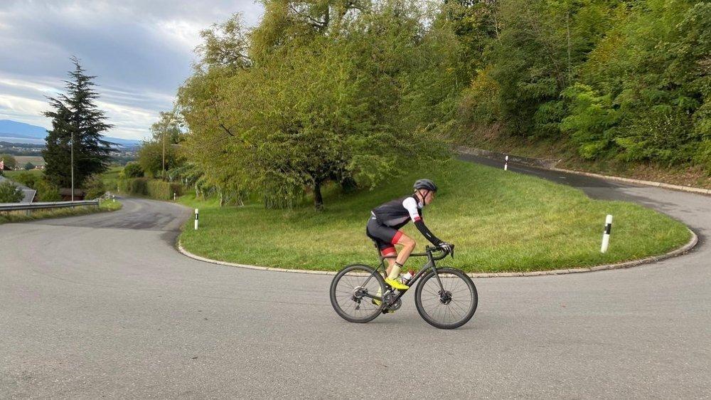 Pour réussir son challenge, Armin Dederichs a fait la montée du Molard à 41 reprises.