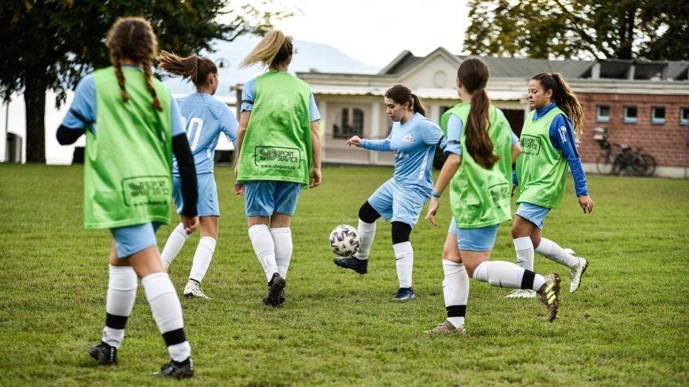 Aux Abériaux, une place importante est laissée au foot féminin depuis dix ans.