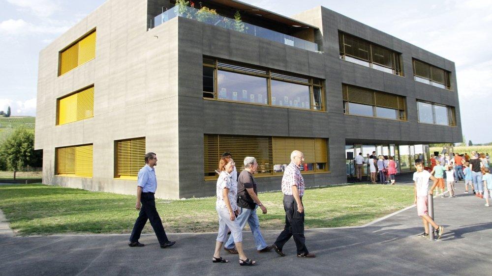 Le collège de La Pra avait été inauguré en 2013. L'extension était déjà prévue à ce moment-là.