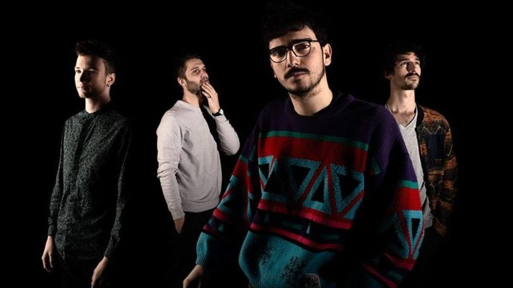 Le quartet au complet: Nathan Vandenbulcke (batterie), Léon Phal (sax ténor), Louis Matute (guitare) et Virgile Rosselet (contrebasse).