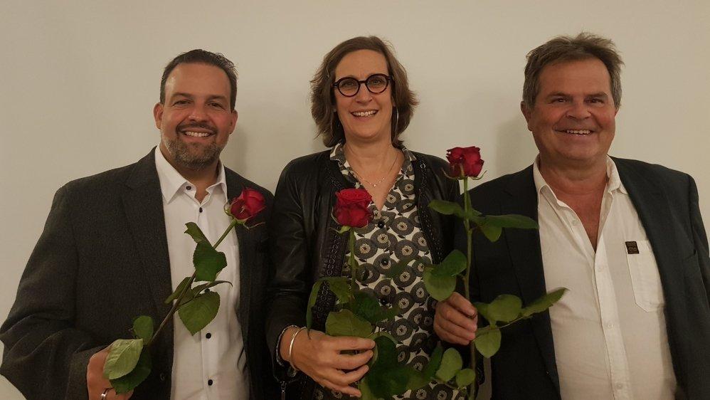 Les socialistes misent sur trois candidats pour la prochaine législature: Vincent Jaques, Laure Jaton et Philippe Deriaz.