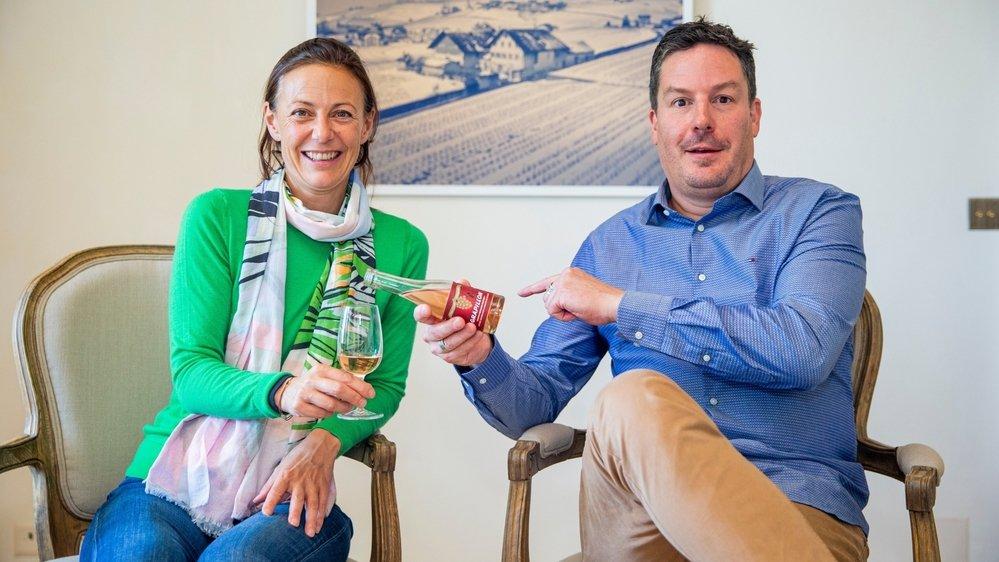 Sofia de Meyer, fondatrice d'Opaline redonne vie au breuvage sans alcool lancé en 1944 par le grand-père de François Schenk, membre de la direction de la multinationale en mains familiales.