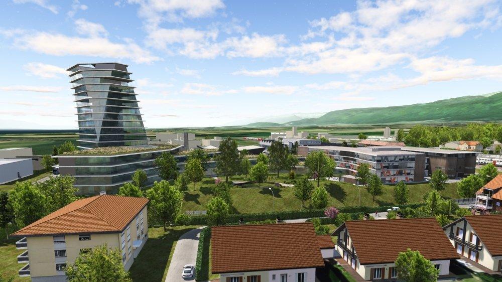 Du haut de ses 60 mètres, la tour de Swissquote dominera l'ensemble des constructions de la commune.