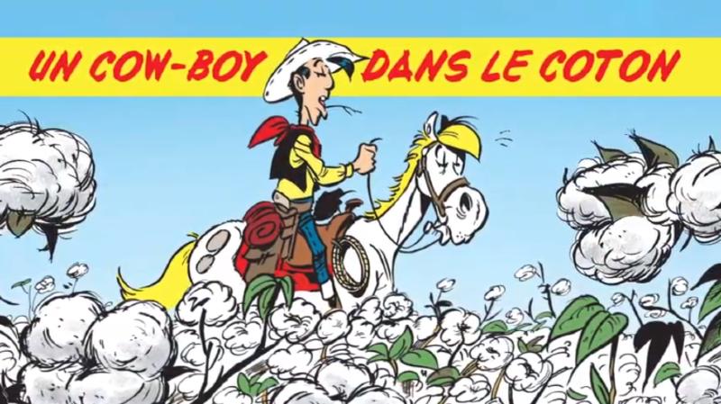 """""""Un cow-boy dans le coton"""", qui sort vendredi, est le troisième épisode de Lucky Luke signé du scénariste Jul et du dessinateur Achdé."""
