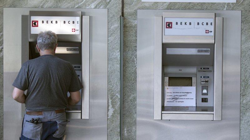 Il s'agit de la deuxième attaque de bancomat en 48 heures dans le canton de Berne (illustration).