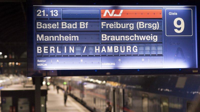 Transport ferroviaire: plus de trains entre la Suisse et l'Allemagne