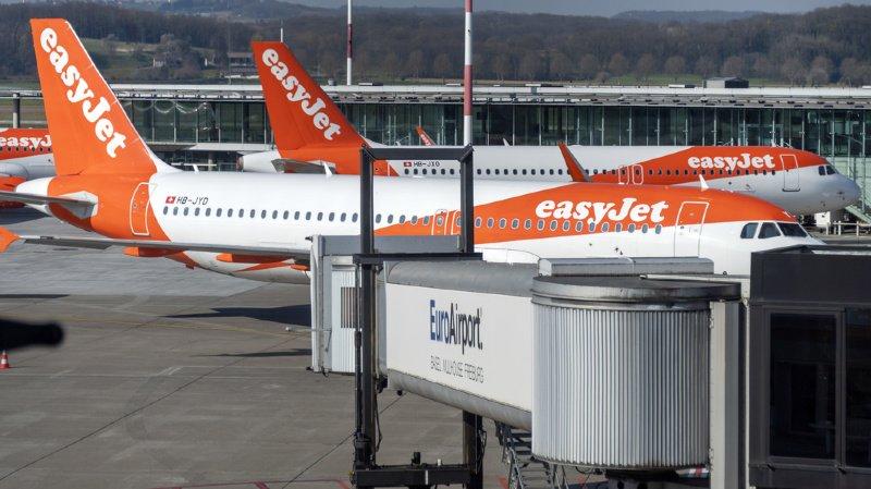 Transport aérien: Easyjet retire 2 de ses avions à Bâle, 70 emplois menacés