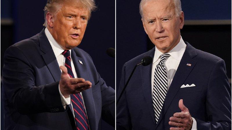 Lors du premier débat, le 29 septembre (ci-contre), les deux candidats s'étaient retrouvés en face-à-face. Donald Trump avait ensuite dû être hospitalisé pour une infection au Covid-19.