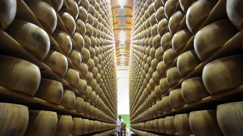 La valeur du stock de fromage est estimée entre 70 et 90 millions d'euros (illustration).
