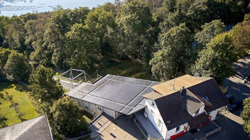 Transports: dans le canton de Berne un funiculaire avance grâce au soleil