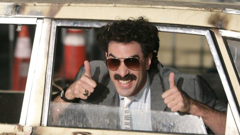 """Dans """"Borat"""", Sacha Baron Cohen se faisait passer pour un journaliste kazakh nigaud et arriéré mais grand admirateur des Etats-Unis. (Archives)"""