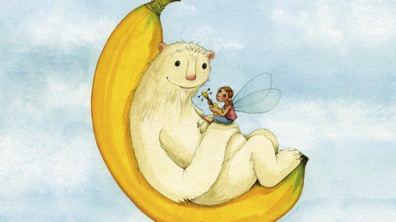 Gaëtan chope la banane