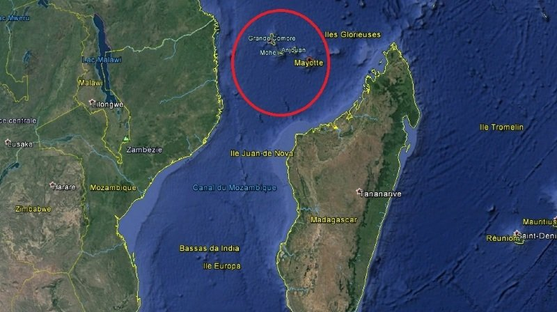 Le drame s'est produit à proximité d'une plage au nord-est de l'île française de Mayotte.