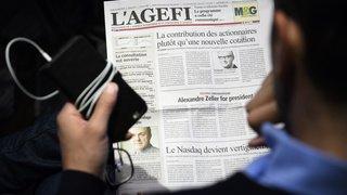Médias: l'Agefi, plus ancien titre économique romand, fête ses 70 ans