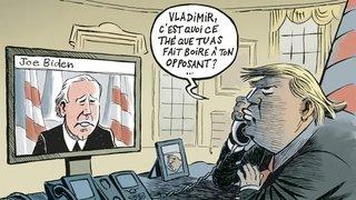Donald Trump, «la caricature de lui-même», expose ses excès à Morges