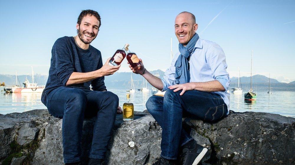 Tristan Brauchli et Cyril Galland n'ont pas seulement conçu une nouvelle boisson: ils ont lancé une petite entreprise qui se veut ancrée localement et tournée vers l'environnement.