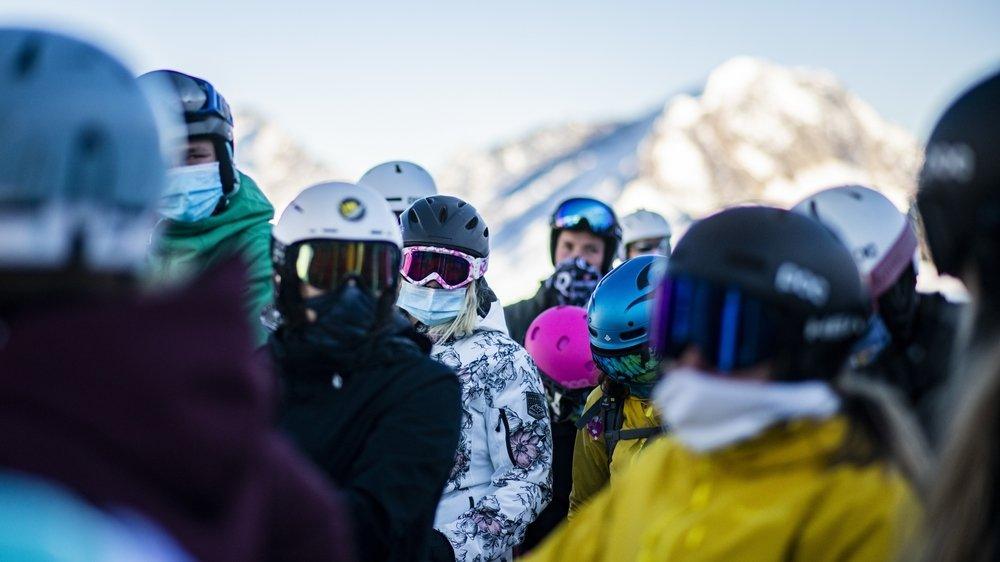 Les skieurs sont venus en nombre, et masqués, durant ce mois de novembre à Saas Fee.
