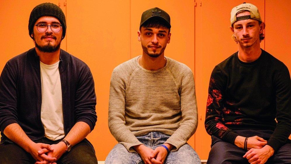 Sergio Sanguina, Fábio Pereira et Médéric Lefèvre sont les nouveaux membres du Parlement des jeunes de Gland.