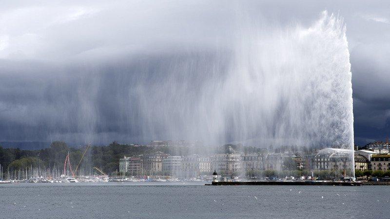 Le Jet d'eau de Genève se reconfine