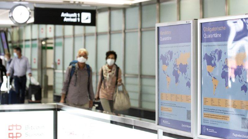 Coronavirus: l'OFSP a mis à jour sa liste des pays à risque