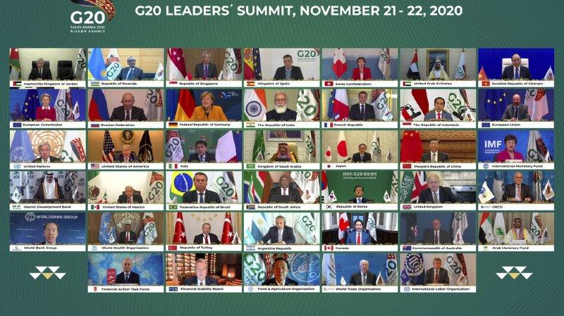 Pandémie oblige, l'image qui restera de ce G20 sera celle d'un écran sur lequel sont apparues les miniatures des grands leaders mondiaux.