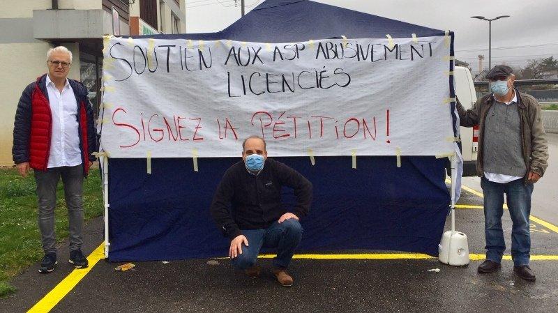 Gland: un stand de soutien aux assistants de sécurité publique licenciés