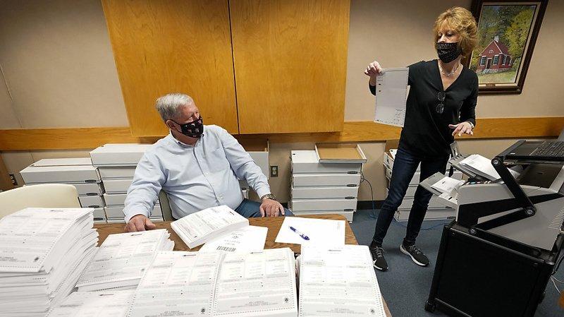 En Pennsylvanie, les autorités ont été débordées par le volume de bulletins reçus par la poste.