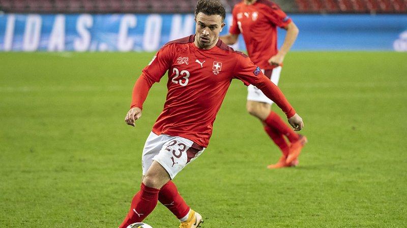 Xherdan Shaqiri s'est blessé avec la Suisse, mais ne s'en est pas rendu compte.