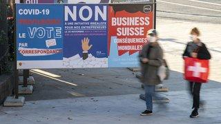 Votations fédérales: vers un petit oui pour les multinationales responsables et un non pour le commerce de guerre