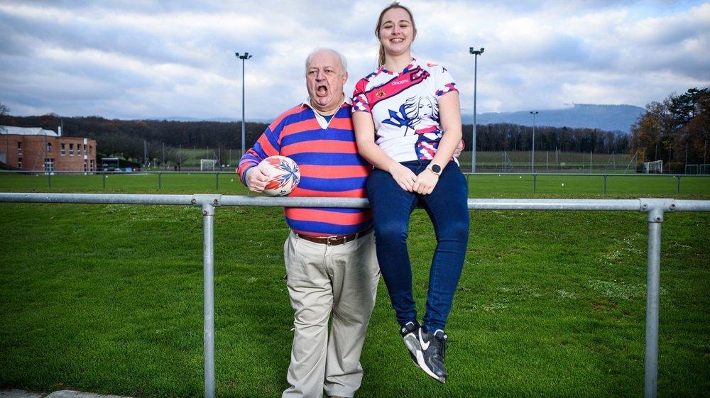 Après avoir porté à 254 reprises le maillot du Nyon RC, c'est aujourd'hui du bord du terrain que Jean-Pierre Vuille encourage sa fille Mathilde.