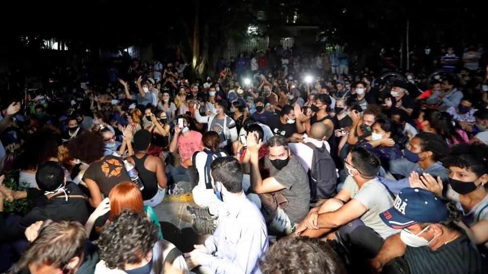 Ils étaient plus de 200 artistes à répondre à l'appel d'une manifestation pacifique demandant l'arrêt de la censure au gouvernement cubain.