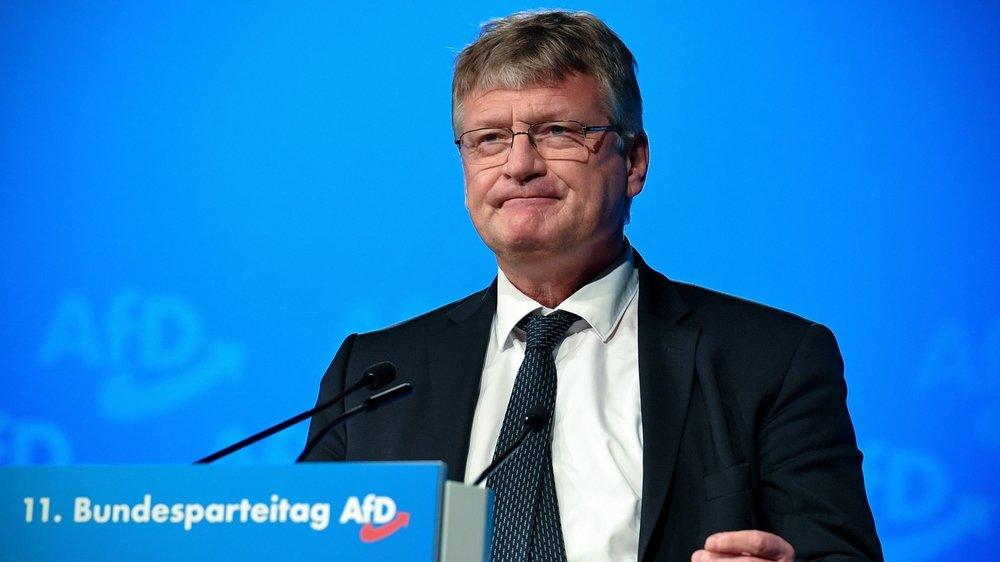 Jörg Meuthen, président de l'AfD, a livré un discours condamnant l'aile dure du parti à ses troupes réunies à Kalkar.