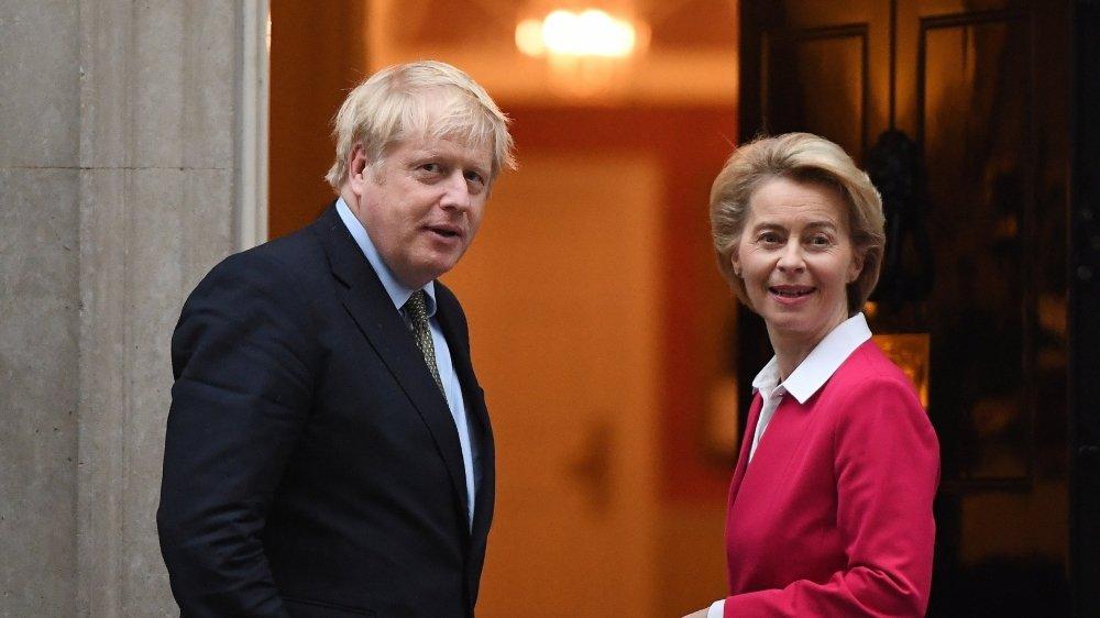 Ursula von der Leyen, présidente de la Commission européenne, et Boris Johnson, premier ministre britannique, se parleront ce lundi soir.