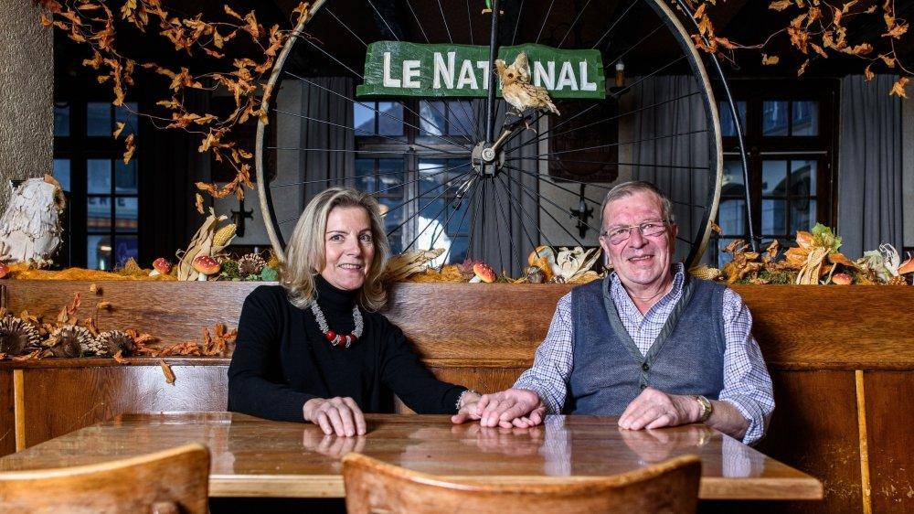 """Monique et Christophe Monthoux ferment définitivement """"Le National"""", une institution à Bière en mains familiales depuis 90 ans."""