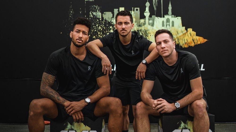 Westher Molteni, Gilles Martin (au centre) et Marco Lehmann seront accompagnés en Arabie Saoudite par Bijanu Kashama.