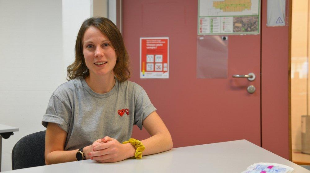 Noémie Guggisberg. est l'une des superviseuses de la cellule de traçage dans le Canton deNeuchâtel.