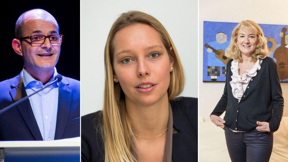 Giorgio Micello, Cécile Rod et Monique Choulat-Pugnale: voici les candidats du centre-droite.