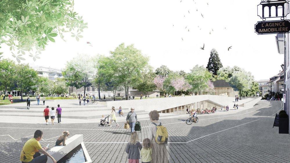 En matière d'urbanisme, le réaménagement de la place Perdtemps est l'un des grands défis de la prochaine législature.