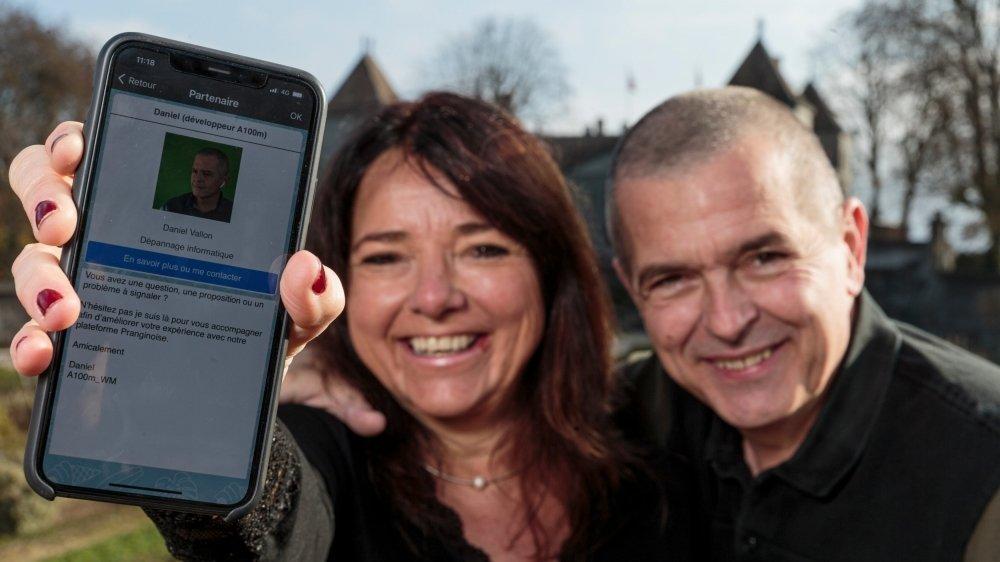 Laurence Christen et Daniel Vallon sont fiers de leur application pour smartphone.