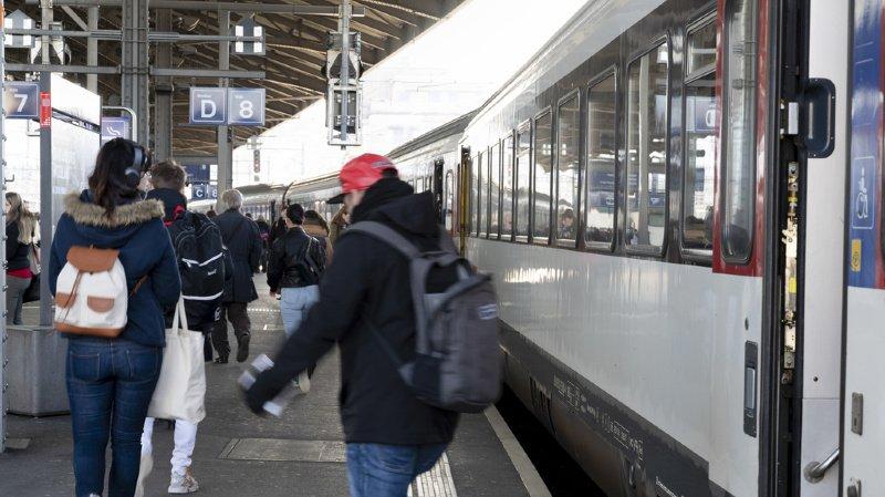 Transports publics: les Suisses ont pris en moyenne 74 fois le train en 2019