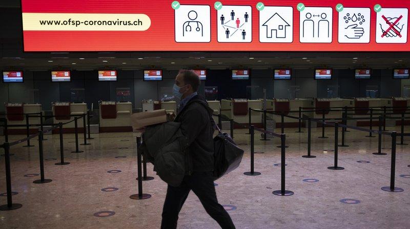 Coronavirus: la Suisse ajoute 11 nouveaux pays à sa liste de zones à risques