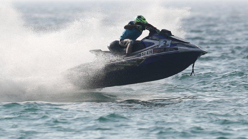L'île de Man est avant tout célèbre pour sa course de moto, mais le jeune homme qui a traversé la mer entre l'Ecosse et l'île en jet-ski voulait rejoindre sa dulcinée. (illustration)