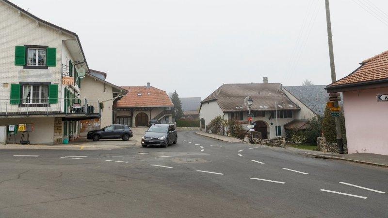 Au centre de Le Vaud, on roulera à 30km/h