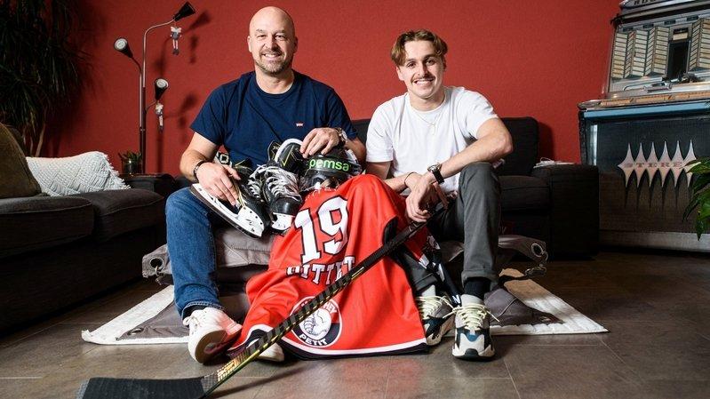 Chez les Pittet, père et fils ont le hockey et Forward dans les gênes