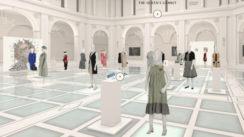 L'exposition virtuelle et interactive comporte plus de 21 costumes.