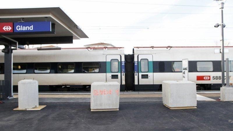 Dérangement à Gland: trains supprimés sur la ligne Lausanne-Genève