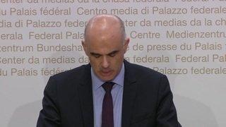Alain Berset s'exprime sur la procédure de chantage dont il a été victime